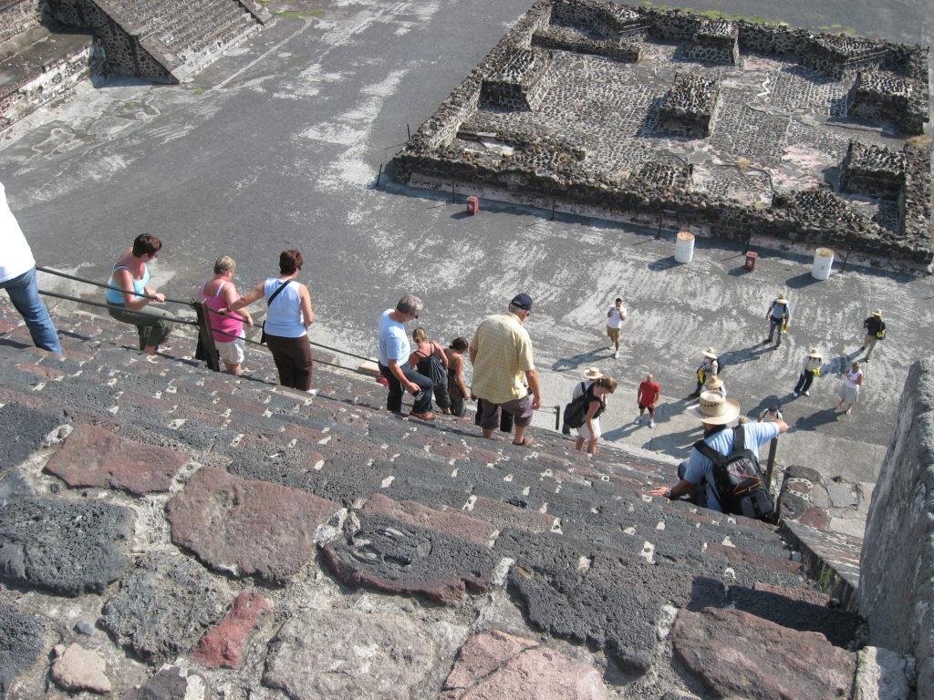 Escalier de la pyramide de la lune