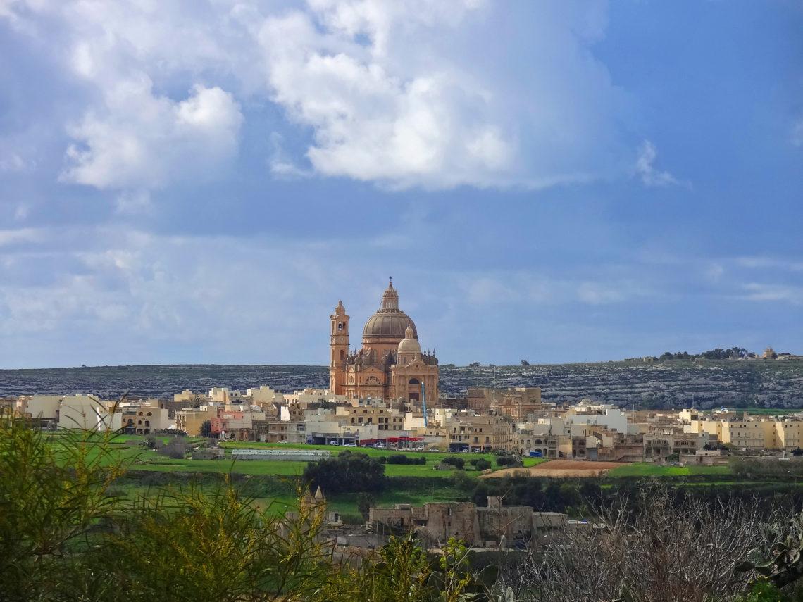 Vue sur la ville de Xagħra